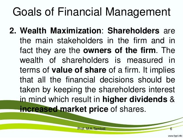 maximization of shareholder wealth 2 essay This article compiles all the important differences between profit maximization and wealth the fundamental differences between profit maximization and wealth maximization is to decisions which will directly affect the interest of the shareholders, then wealth maximization should be.