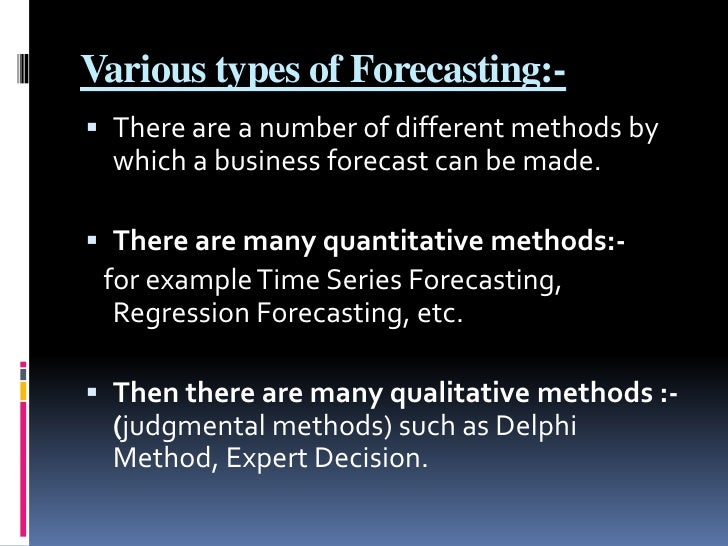 types of forecasting methods 5 essential sales forecasting techniques  using the length of sales cycle approach can open up the option for creating algorithms based on different types of deals so you could have a separate set of numbers for the average repeat customer, or the average lead who comes from a website query.