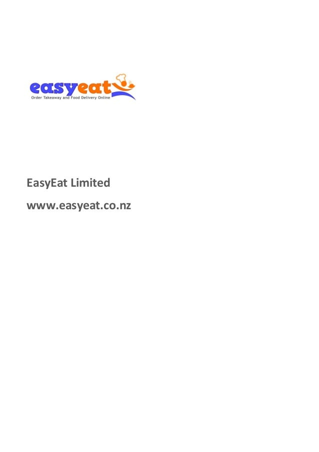 EasyEat Limited www.easyeat.co.nz