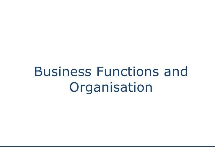 Departmentation by organization enterprise functions