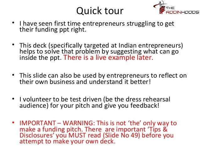 A ready to use Template for pitching your Business for funding! See updated version here - https://therodinhoods.com/post/a-funding-pitch-and-business-deconstruction-template/ Slide 2