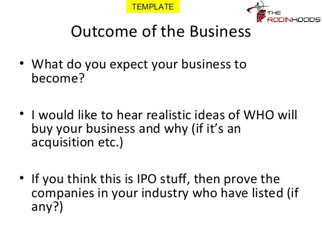 A ready to use template for pitching your business for funding with template 21 outcome of the business wajeb