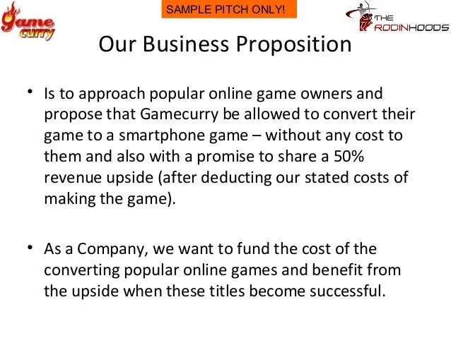 Writing a business proposition