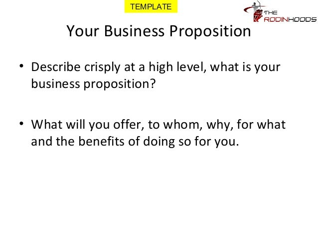 business proposition template