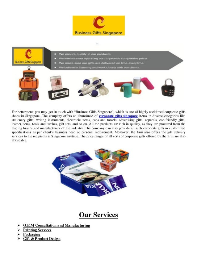 Business Gifts Pte Ltd. Best Singapore corporate gifts Singapore company