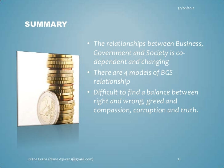 "relationship between business and society The relationship between business and society business defined business  today is arguably the most dominant institution in the world the term ""business""."