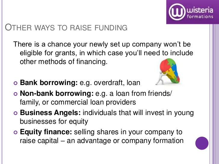 Funding options for a startup online business