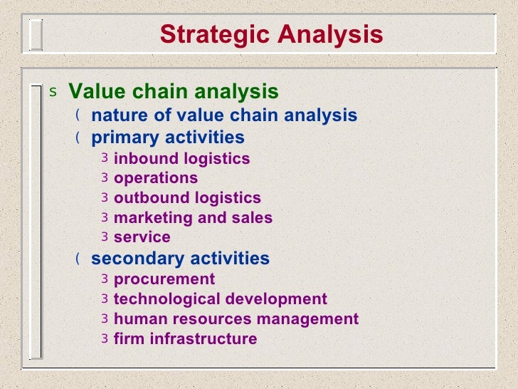 limitations of value chain analysis Strategic mgmt ch06 value chain analysis has managers look at and be able to summarize its limitations 2 understand value chain analysis and how to use.