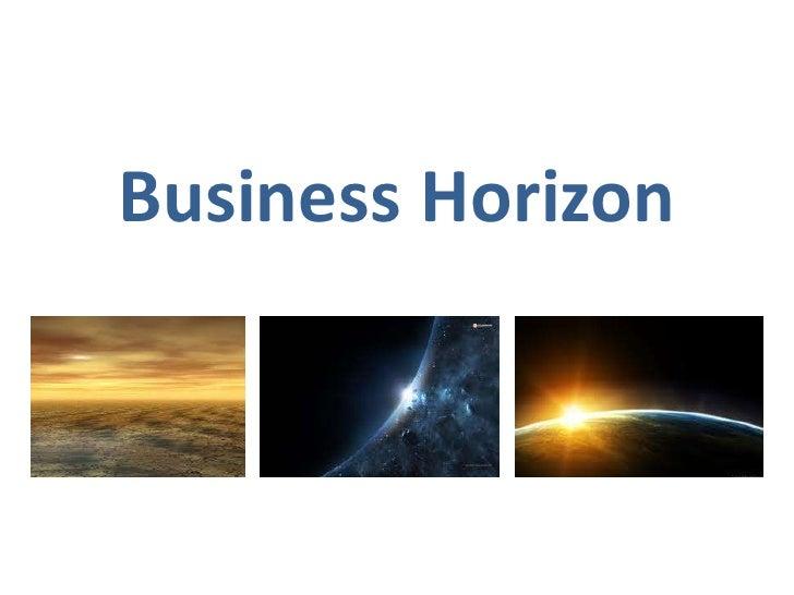 Business Horizon<br />