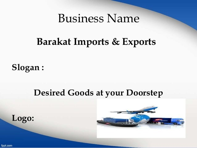 Marketing plan presentation ppt unique export business plan import.