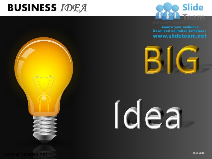 Business idea light bulb clicking shinning innovation decision making business ideaslideteam your logo toneelgroepblik Gallery