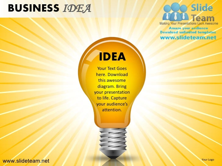 BUSINESS IDEA                      IDEA                      Your Text Goes                     here. Download            ...