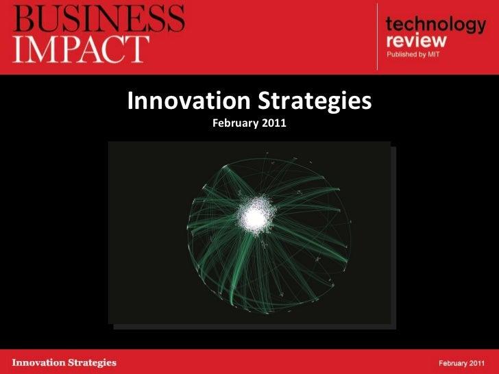 Innovation Strategies February 2011