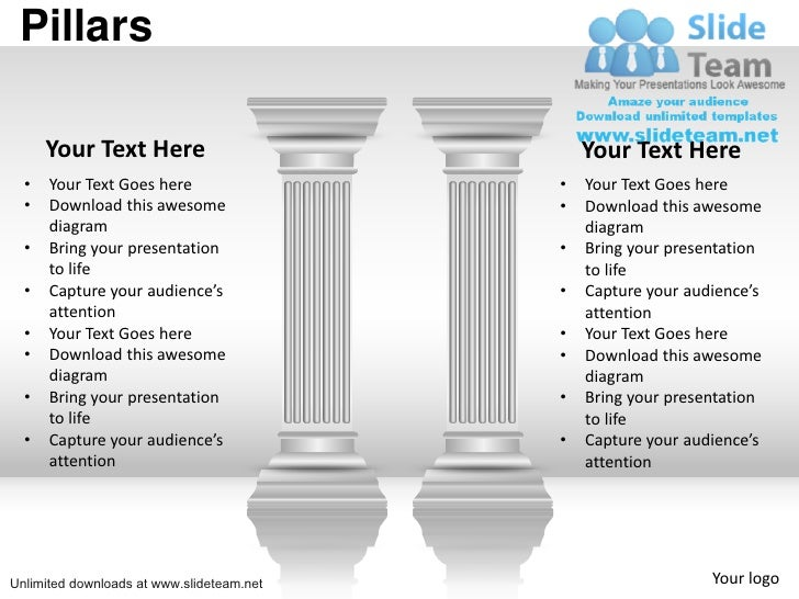 Business important pillars of strength power point slides and ppt dia pillars your text here your text here toneelgroepblik Choice Image