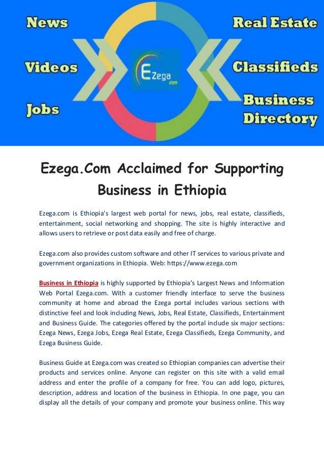 Business in ethiopia ezega com
