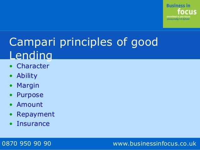 campari lending principles