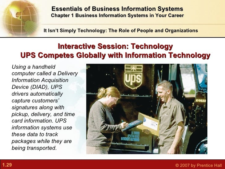 Solution ups competes globally with information technology