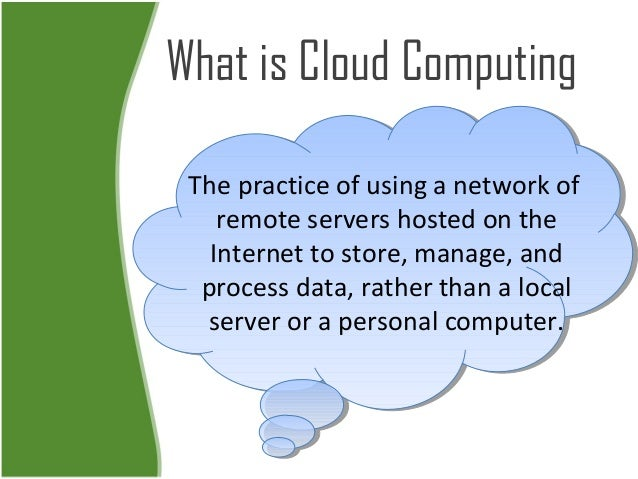 Business innovation in cloud computing Slide 2