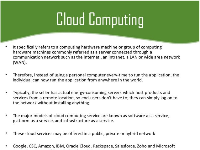 Business innovation in cloud computing Slide 3