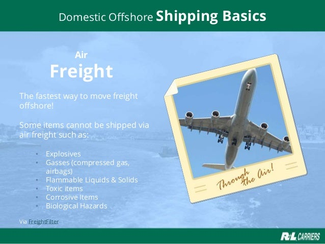 Business in Paradise, Domestic Offshore Shipping Basics