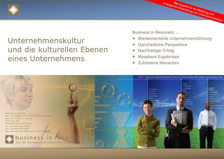Der Experte für die Messung und strategische Entwicklung von Unternehmenskultur<br />Business in Resonanz …<br /><ul><li>W...