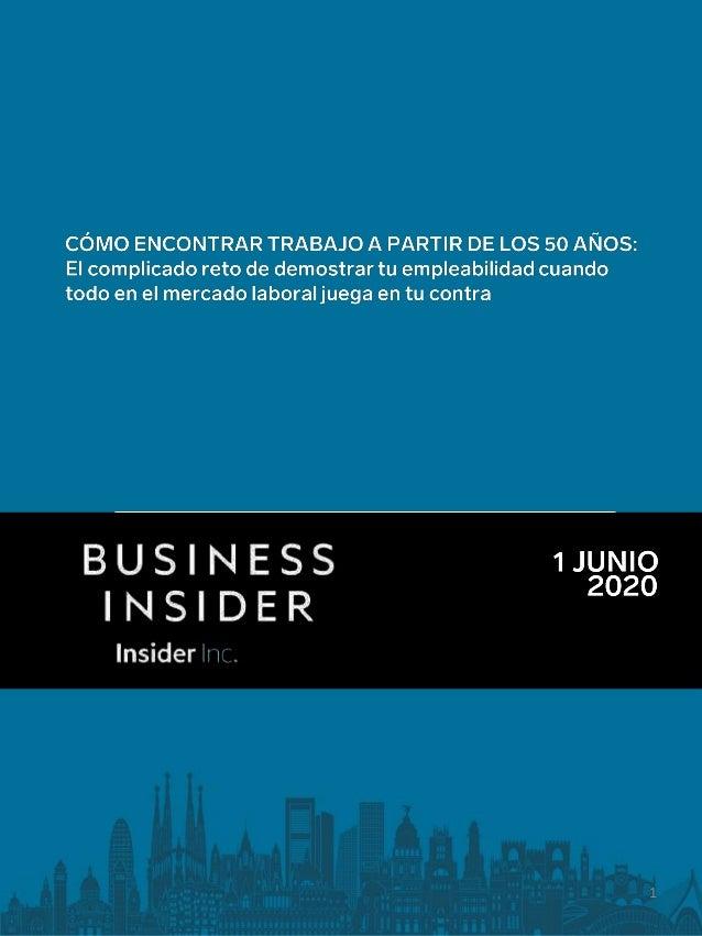 Business Inside España - Cómo encontrar trabajo a partir de los 50 años Slide 1
