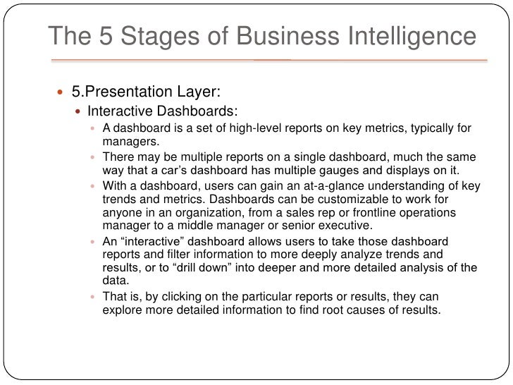 Business intelligence in a corporate environment essay