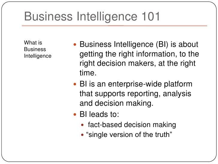 Business intelligence Slide 3