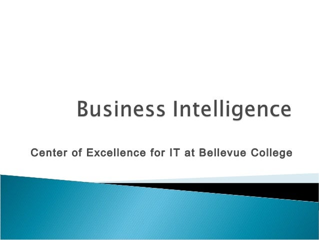 Center of Excellence for IT at Bellevue College