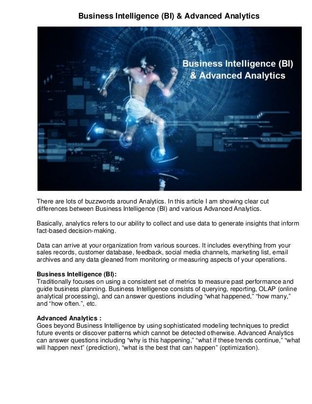 business intelligence bi advanced analytics