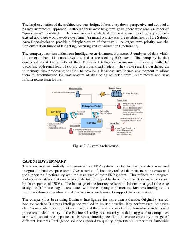 Business intelligence case studies