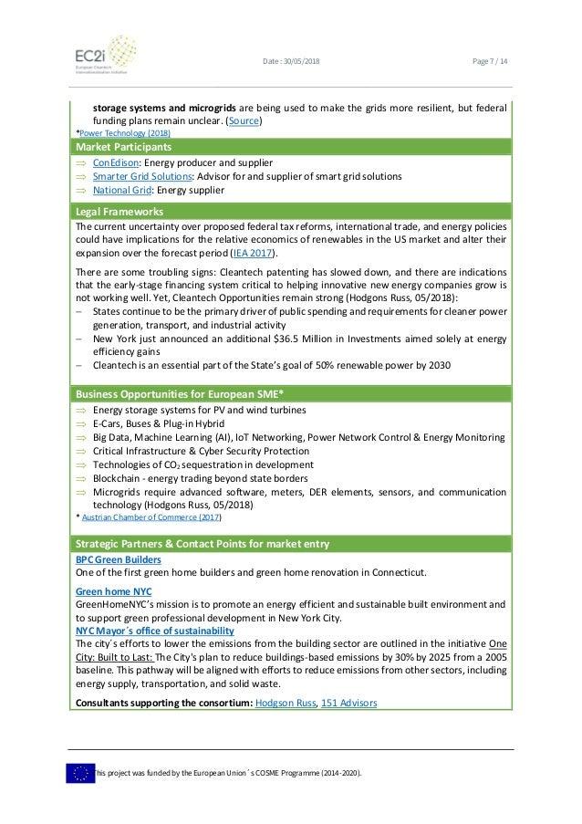Business intelligence on the US greentech market