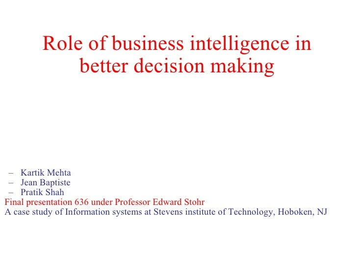 Business Intelligence Role Decision Making