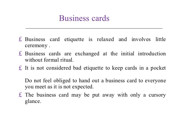 Business in uk business cards business card etiquette reheart Choice Image