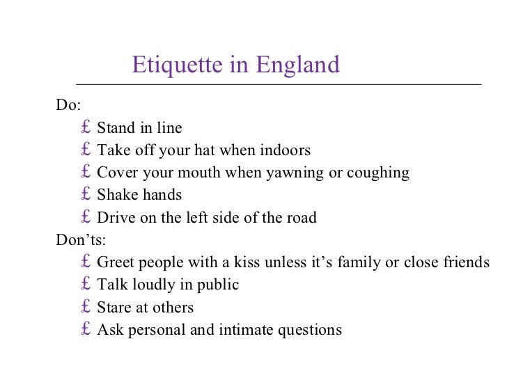 Business in uk etiquette reheart Choice Image