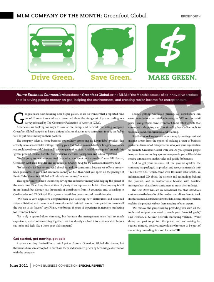 mlm company of the month: Greenfoot Global                                                                                ...