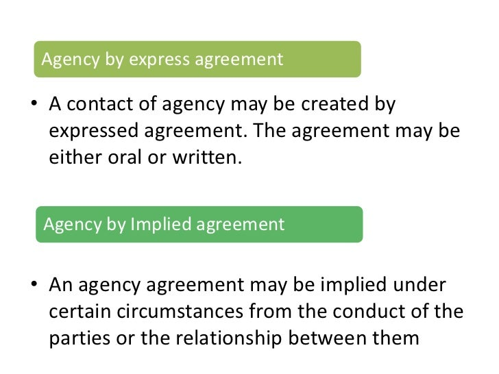 Business law – Business Agency Agreement