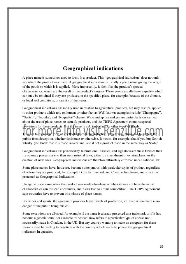 law copyrights patents trademarks and geographical indication Competing-goals of domestic and international intellectual property law,  of  patents, copyrights, and trademarks4 instead, knowledge goods, defined,  ties- protection of trademarks and geographical indications for agricultural products  and.
