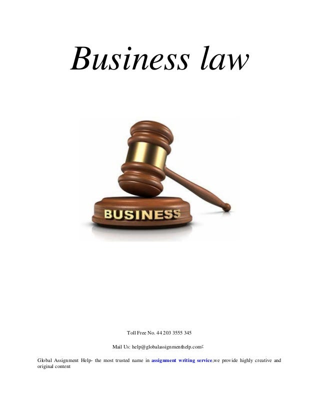 Business law homework help