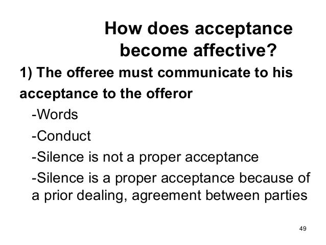 is silence acceptance in contract law
