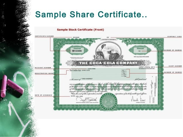 Shares mba sample share certificate yadclub Choice Image