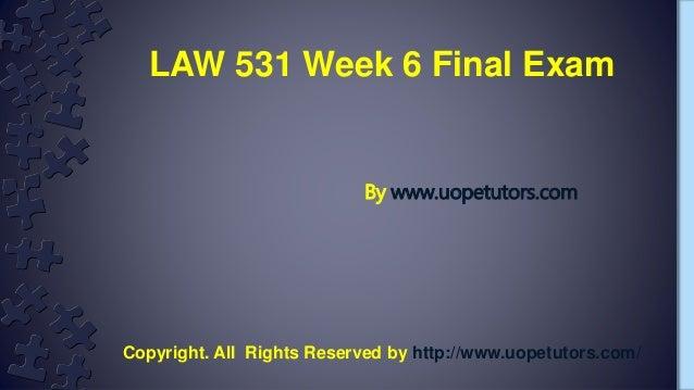 Business law week 5