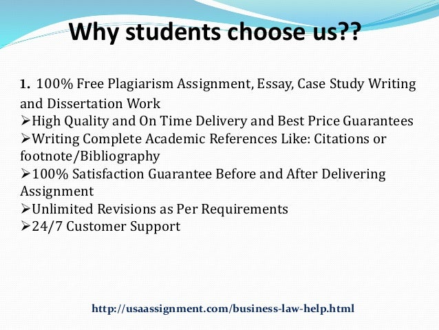 business law 100 assignment Abc assignment help is the online assignment help and essay writing company of australia, usa, uk, canada etc get best assignment writing services from top experts and essay writers.