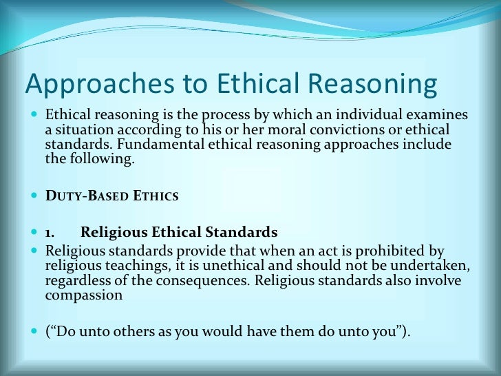 approaches to moral reasoning