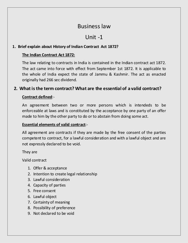 essential of valid contract pdf