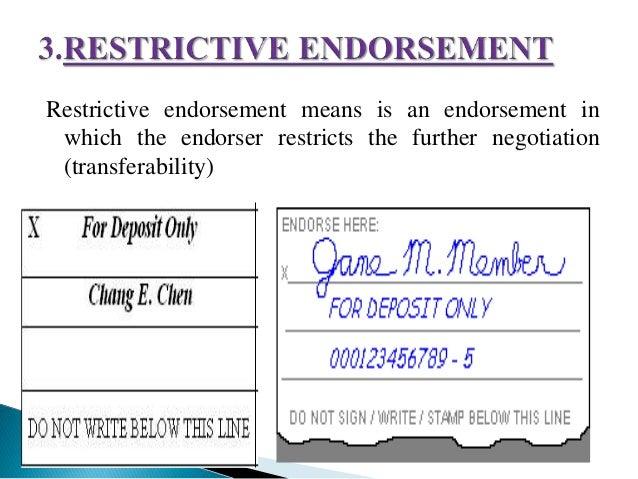 conditional endorsement