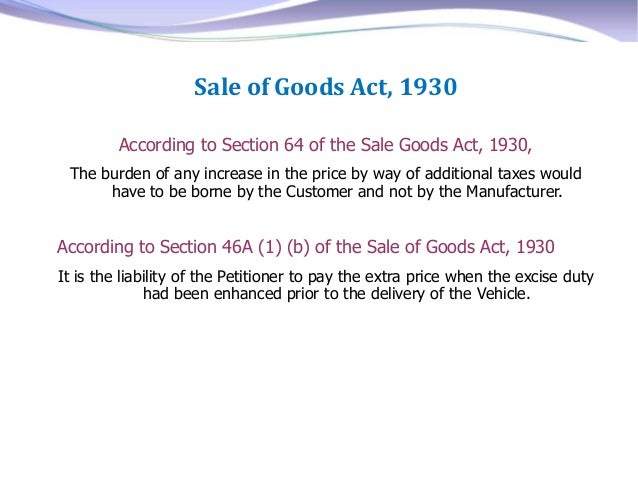 Sale of Goods Act 1893