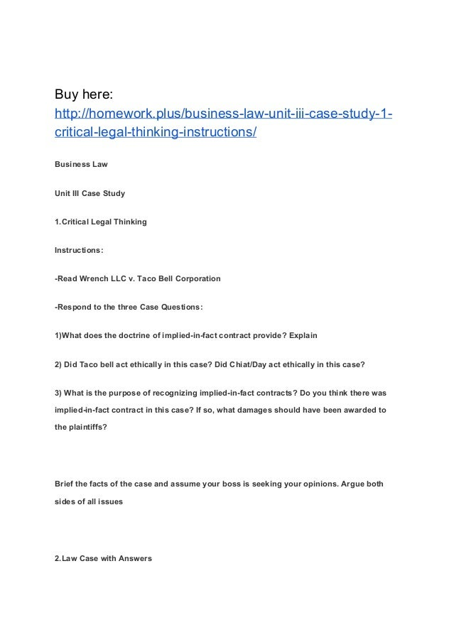 business law case study foreign Ethical dilemmas, cases, and case studies arthur andersen case studies in business ethics domestic and international cases environmental justice case studies written by university of michigan students.