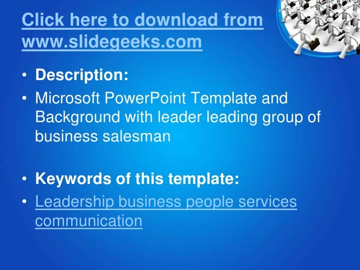 Business Leadership Power Point Templates