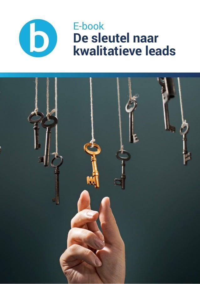 E-book De sleutel naar kwalitatieve leads